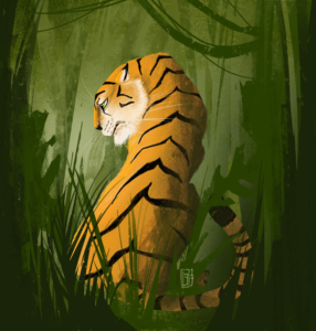 Tiger im Jungle